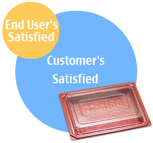 Hiro Food's Customer satisfied is including end user's satisfied