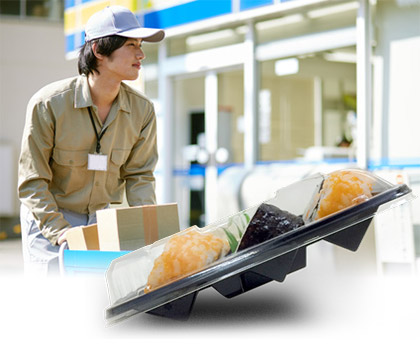 HIRO's disposable food containers can carry safely.